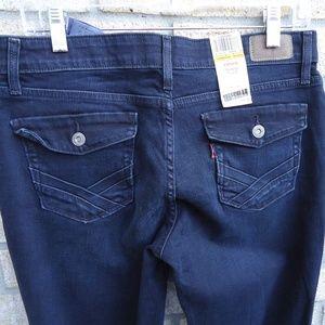 SIZE 10 M.NWT.Levi's IRREGULAR Dark Wash Jeans.
